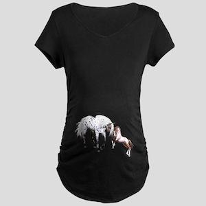 Horses Love Forever Maternity T-Shirt