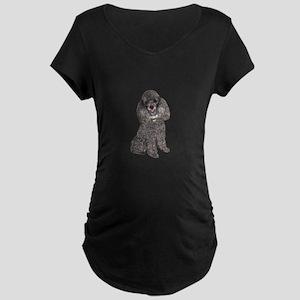 Poodle (Min-Slvr) Maternity Dark T-Shirt
