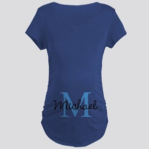 Personalize Iniital, And Name Maternity T-Shirt