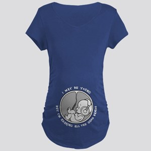 Phone Jammies Maternity Dark T-Shirt