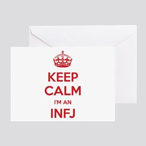 Keep Calm I'm An INFJ Greeting Card