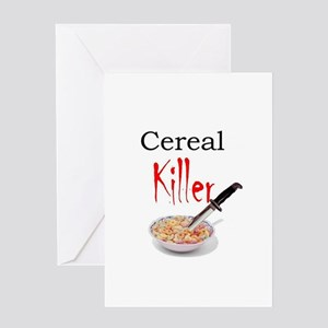 cereal killer Greeting Cards