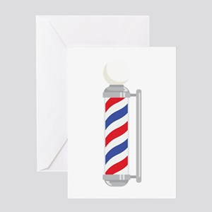 Barber Shop Pole Greeting Cards