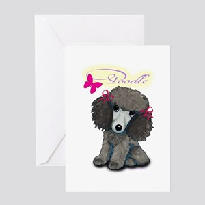Poodle Girl Greeting Card