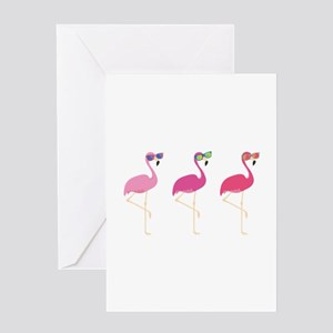 Cool Flamingos Greeting Card
