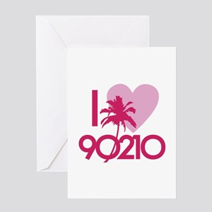 I Love 90210 Greeting Card