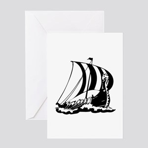 Viking Ship Greeting Card