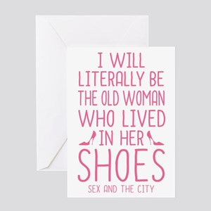 Carrie Shoe Quote Sex And The City Greeting Cards
