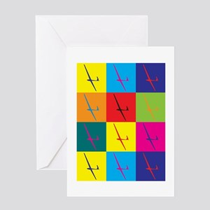 Gliding Pop Art Greeting Card