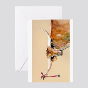 Long Horn Christmas Greeting Card