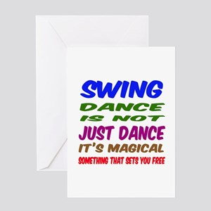 Swing dance is not just dance Greeting Card