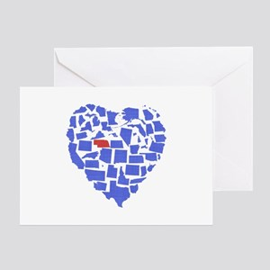 Nebraska Heart Greeting Card