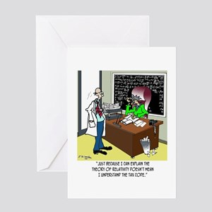 Theory of Relativity & The Tax Code Greeting Card