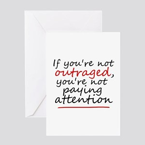 'Outraged' Greeting Card