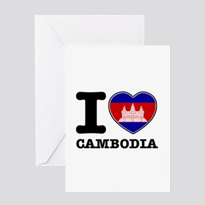 I heart Cambodia Greeting Card