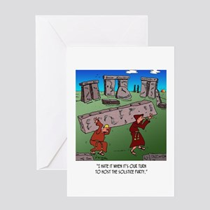 Solstice Cartoon 9494 Greeting Card