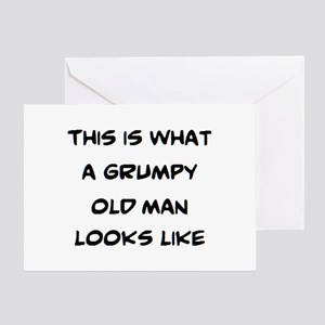 grumpy old man looks like Greeting Card