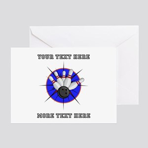 Personalized Bowling Greeting Card