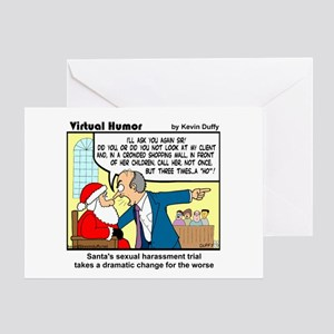Santa on Trial Greeting Cards