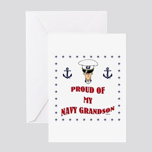Proud Of My Navy Grandson Greeting Card