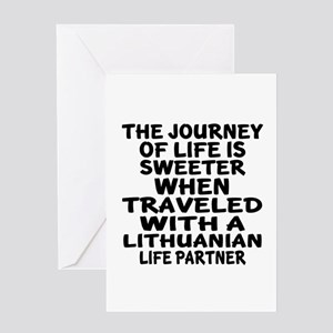 Traveled With Lithuanian Life Partne Greeting Card