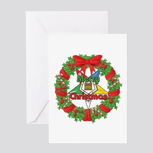 OES Wreath Greeting Card