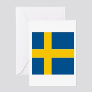 Flag of Sweden Greeting Cards