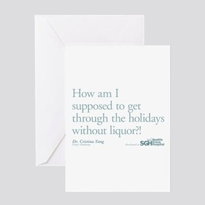 Holidays Without Liquor Quote Greeting Card