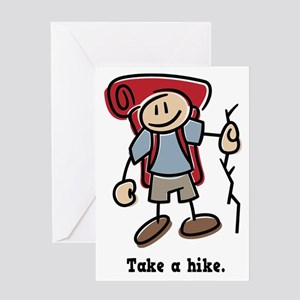 Cute Take a Hike Greeting Card