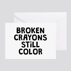 Broken Crayons Greeting Card