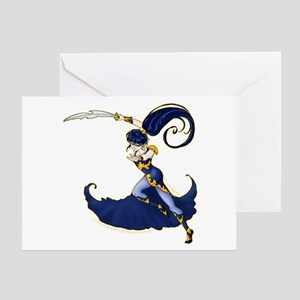 Anime Warrior Woman Greeting Card