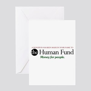 The Human Fund Card Greeting Cards