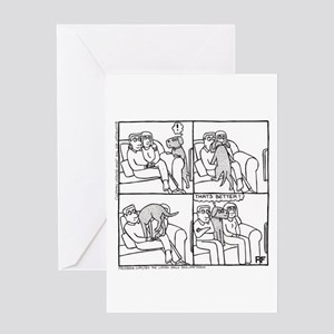 On The Sofa - Greeting Card