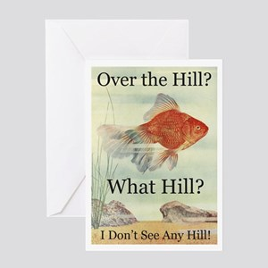 Over the Hill Greeting Card