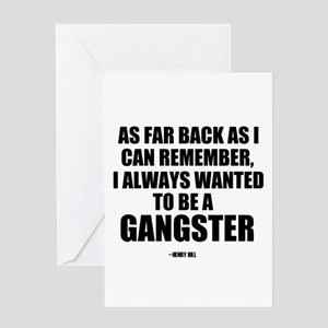 'Gangster' Greeting Card