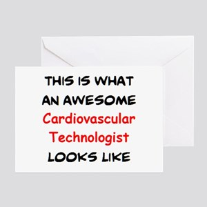 awesome cardiovascular technologist Greeting Card
