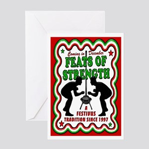Feats of Strenght FESTIVUS™ Tr Greeting Card