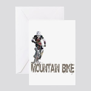 Mountain Bike Left Greeting Card