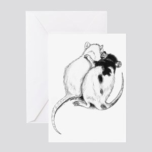 Rat Hug Greeting Card