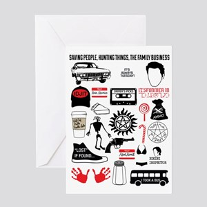 SPN Quotes Home Greeting Card