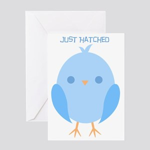just hatched (blue) Greeting Card