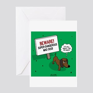 Dangerous Dachshund Greeting Card