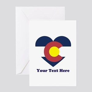 Colorado Flag Heart Personalized Greeting Card
