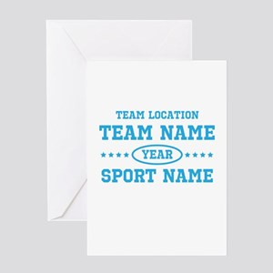 Sports Team Personalized Greeting Card