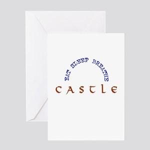 Eat Sleep Breathe Castle Greeting Card