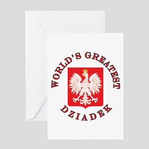 World's Greatest Dziadek Crest Greeting Card