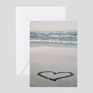 I ? the Beach Greeting Card