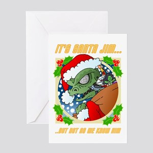 Its Santa Jim... Greeting Cards