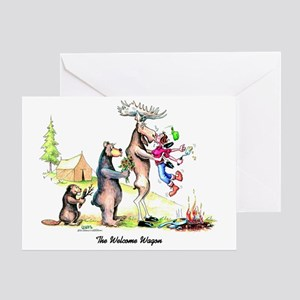 The Welcome Wagon Greeting Card