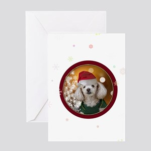 Christmas Toy Poodle Greeting Cards